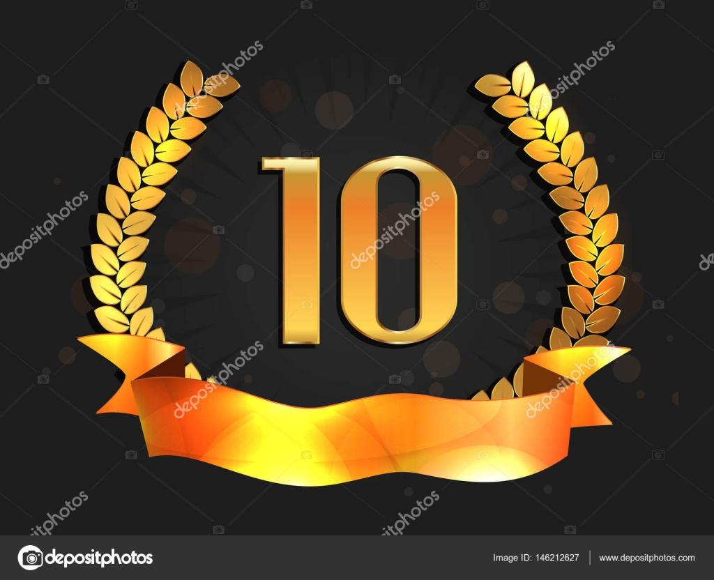 Ten years anniversary banner th anniversary logo u stock