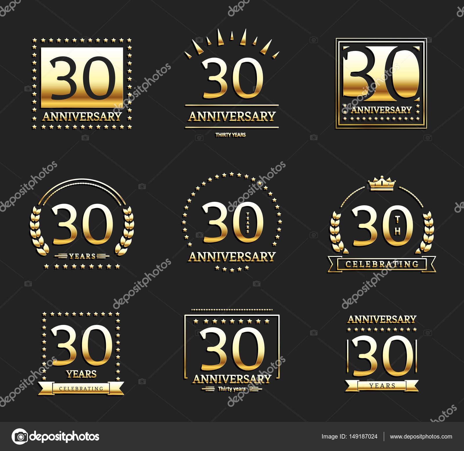 30e Verjaardag Gouden Logo Set Stockvector C Aieps 149187024