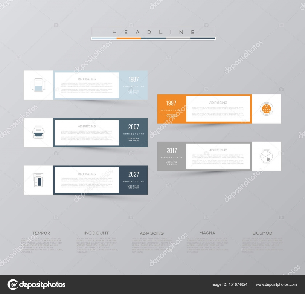 Vector Infographic Template Business Concept With 5 Options For Computer Parts Diagram Content Flowchart Steps Timeline Infographics Workflow Layout Chart