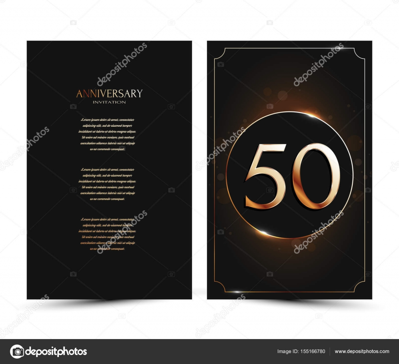 Populair 50 jaar verjaardag ingericht groet / uitnodiging kaart sjabloon @DP08
