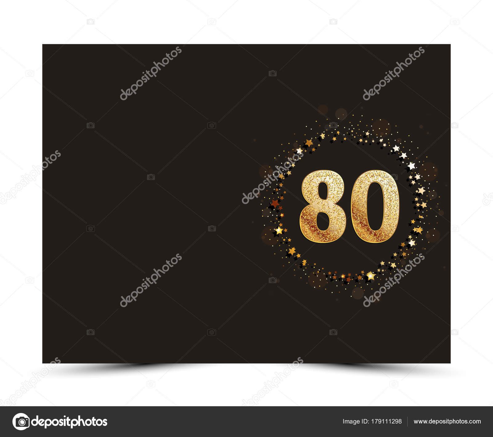 Bedwelming 80 jaar verjaardag ingericht groet / uitnodiging kaart sjabloon #IM18