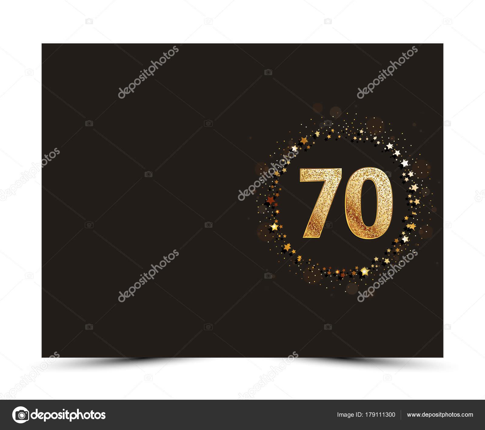 Invitacion Vintage 70 Años Aniversario 70 Años Decoradas