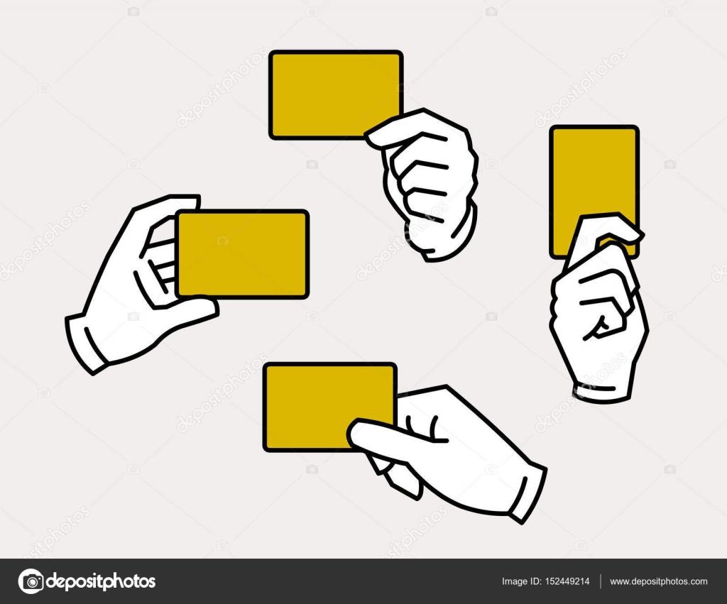 Hände halten Kartenvorlage — Stockvektor © blackpencil #152449214