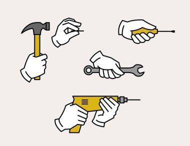 Hardware tools icons