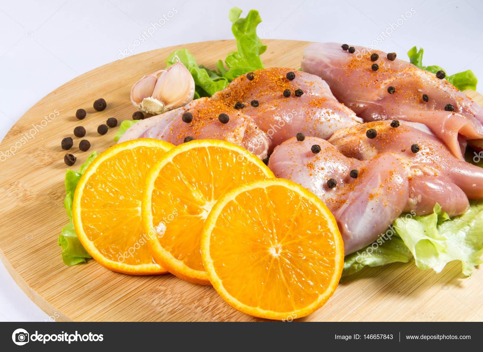 Fleisch, Huhn, Nahrung, Geflügel, Ernährung, grünen, Essen ...