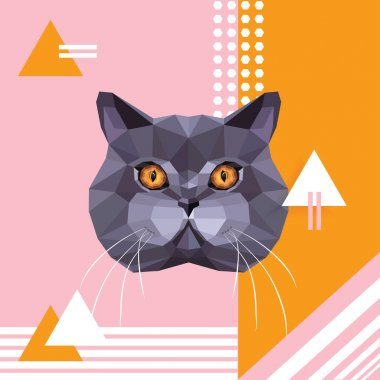 polygonal design cat muzzle