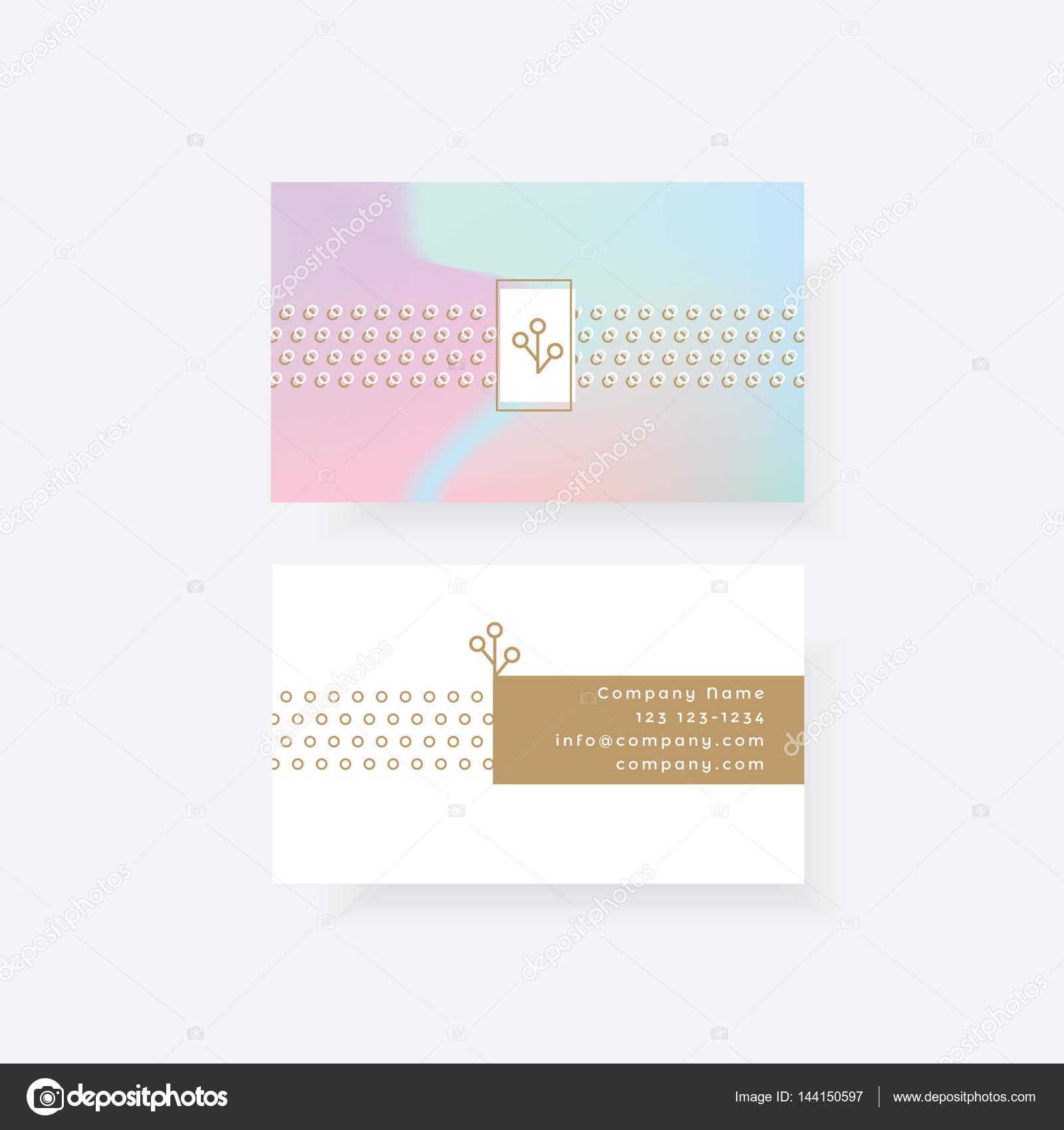 Feminine business card — Stock Vector © DianaHlevnjak #144150597