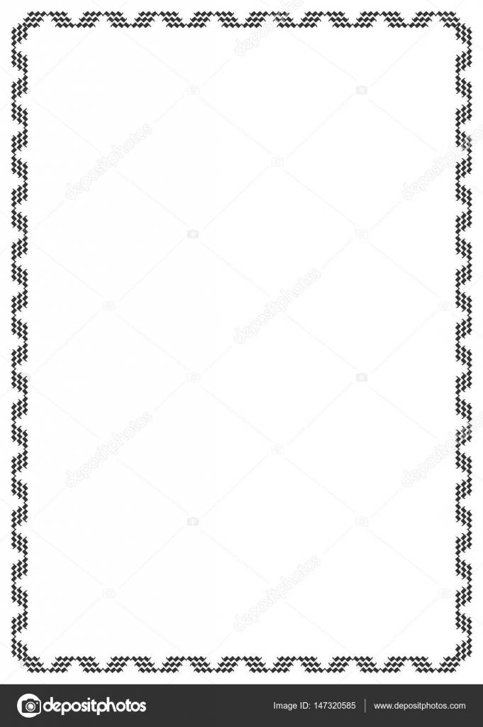 Cadre Bordure cadre bordure décorative — image vectorielle khaladok © #147320585