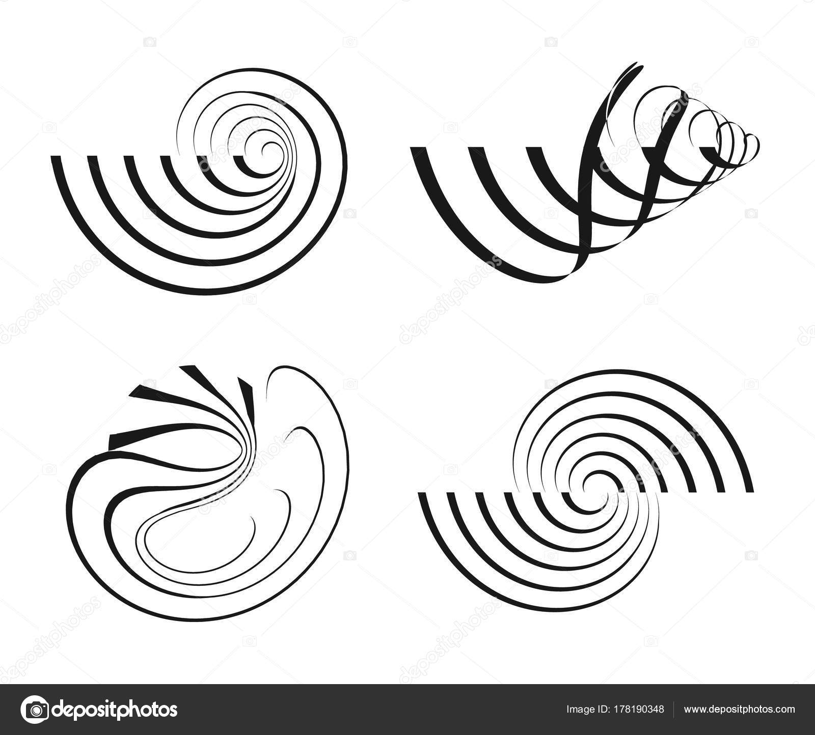 Vector Abstract Swirl Backgrounds Creative Geometric Patterns Modern ...