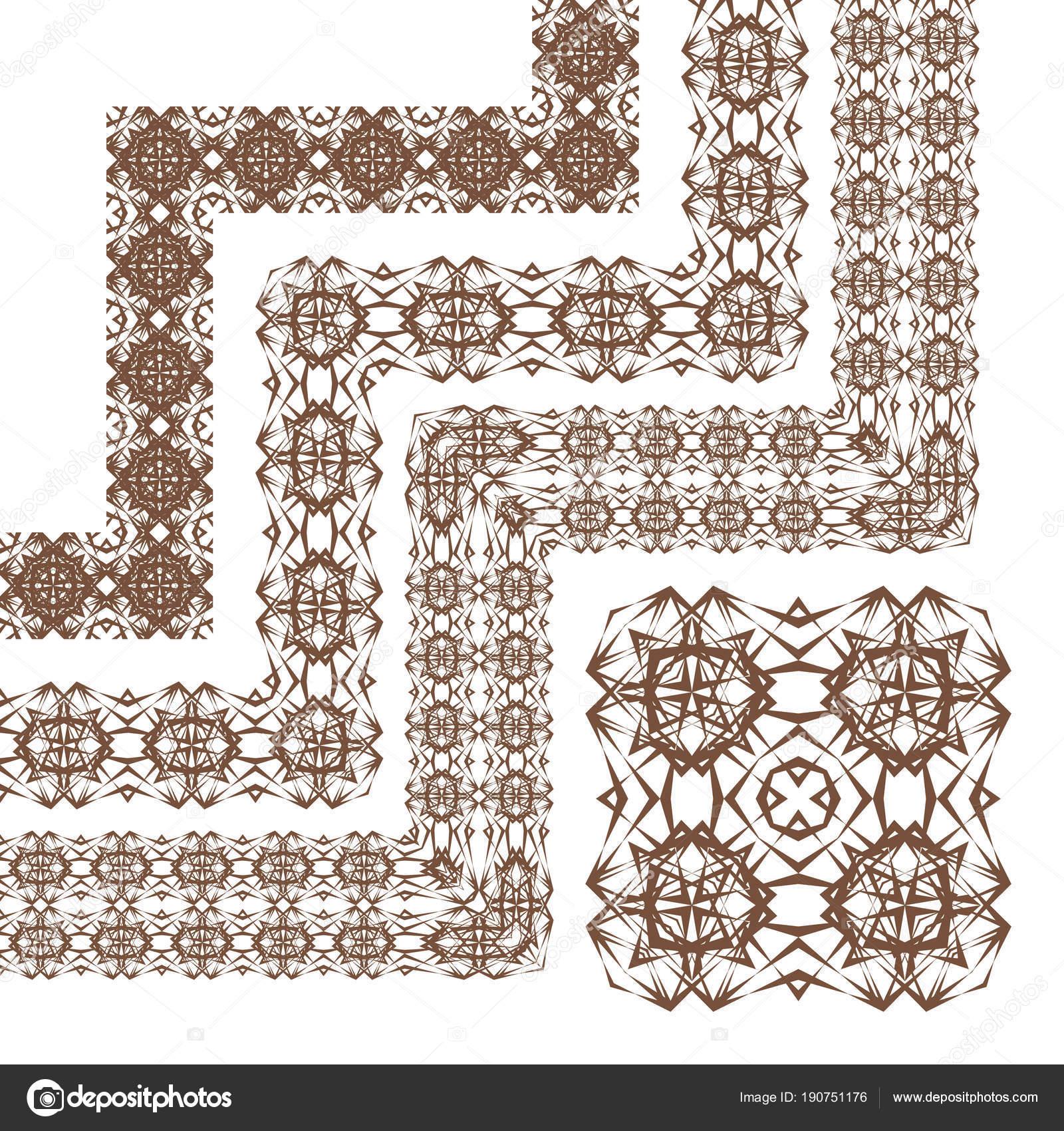 Download Decorative Border Frame Elements Corners Vector Modern Design Creative Geometric Stock Vector C Khaladok 190751176