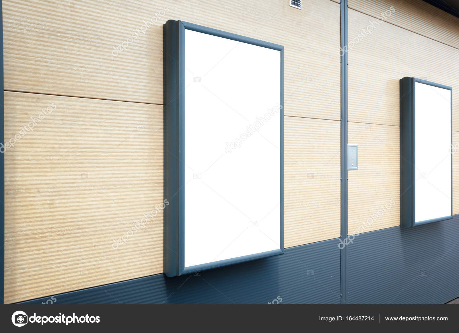 Vertical billboard mockup  Frame on shopping mall  — Stock