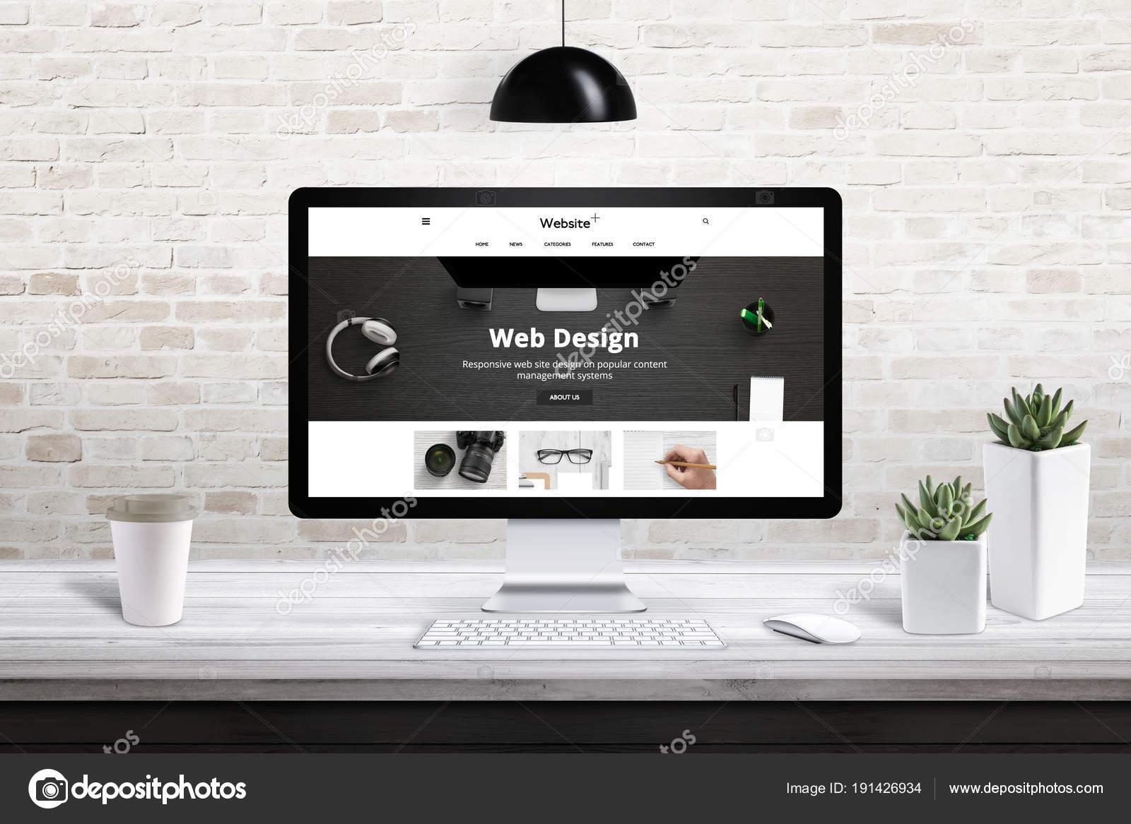 コンピューターのディスプレイの応答性の高い web サイト デザインの