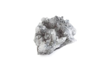 mineral of smoky quartz in white background