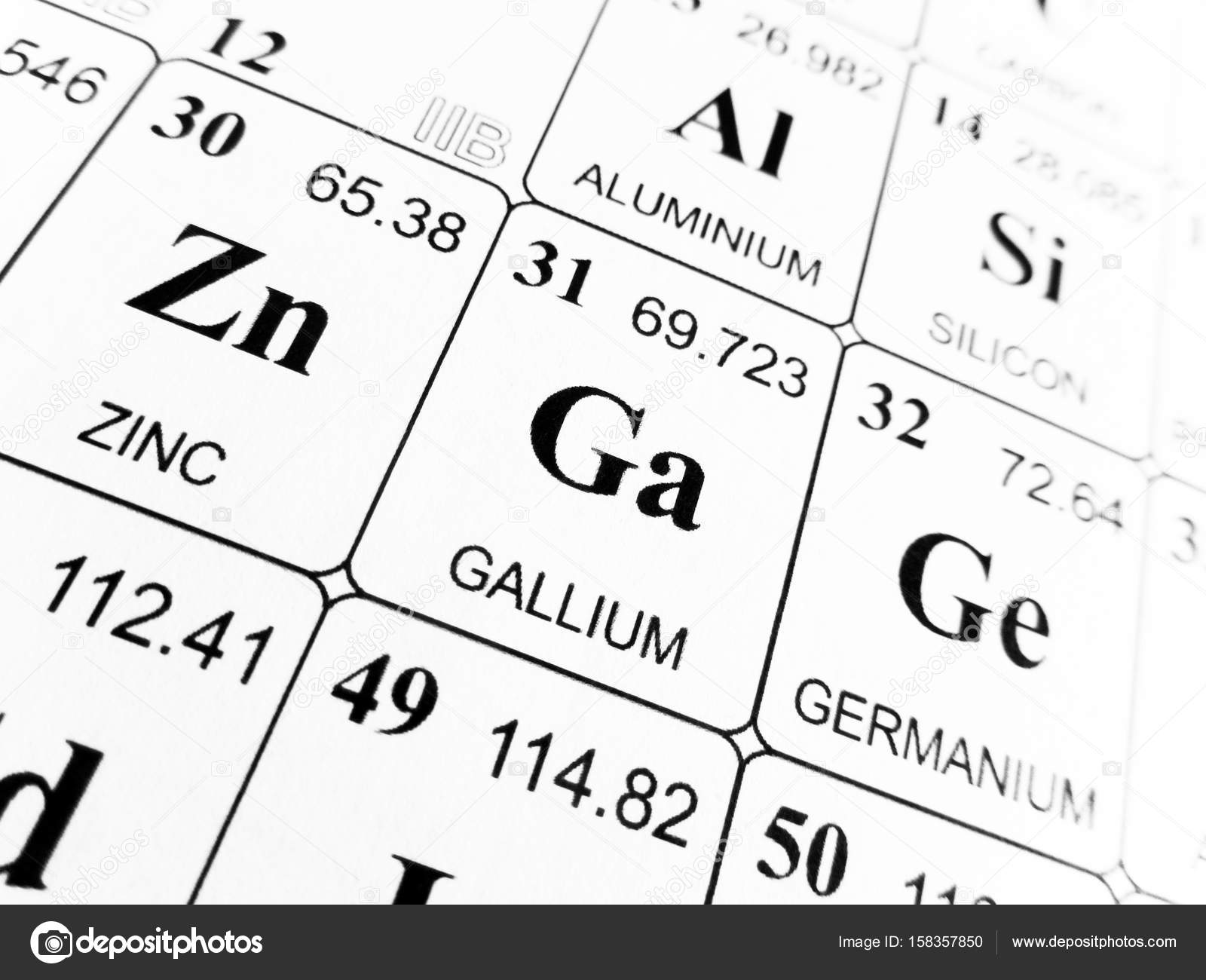 galio de la tabla peridica de los elementos foto de stock - Tabla Periodica De Los Elementos Galio