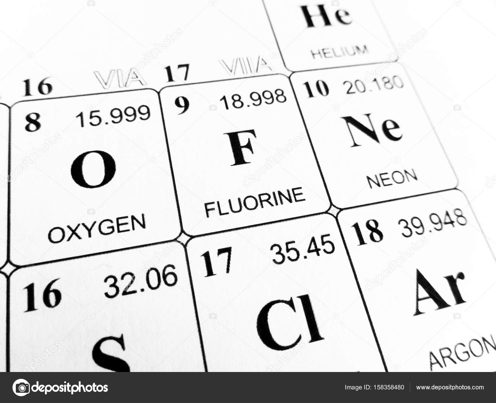 Fluorine on the periodic table of the elements stock photo fluorine on the periodic table of the elements stock photo 158358480 gamestrikefo Gallery