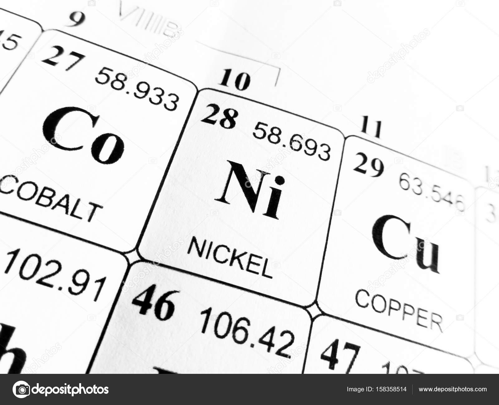 Nquel de la tabla peridica de los elementos foto de stock nquel de la tabla peridica de los elementos foto de stock urtaz Images