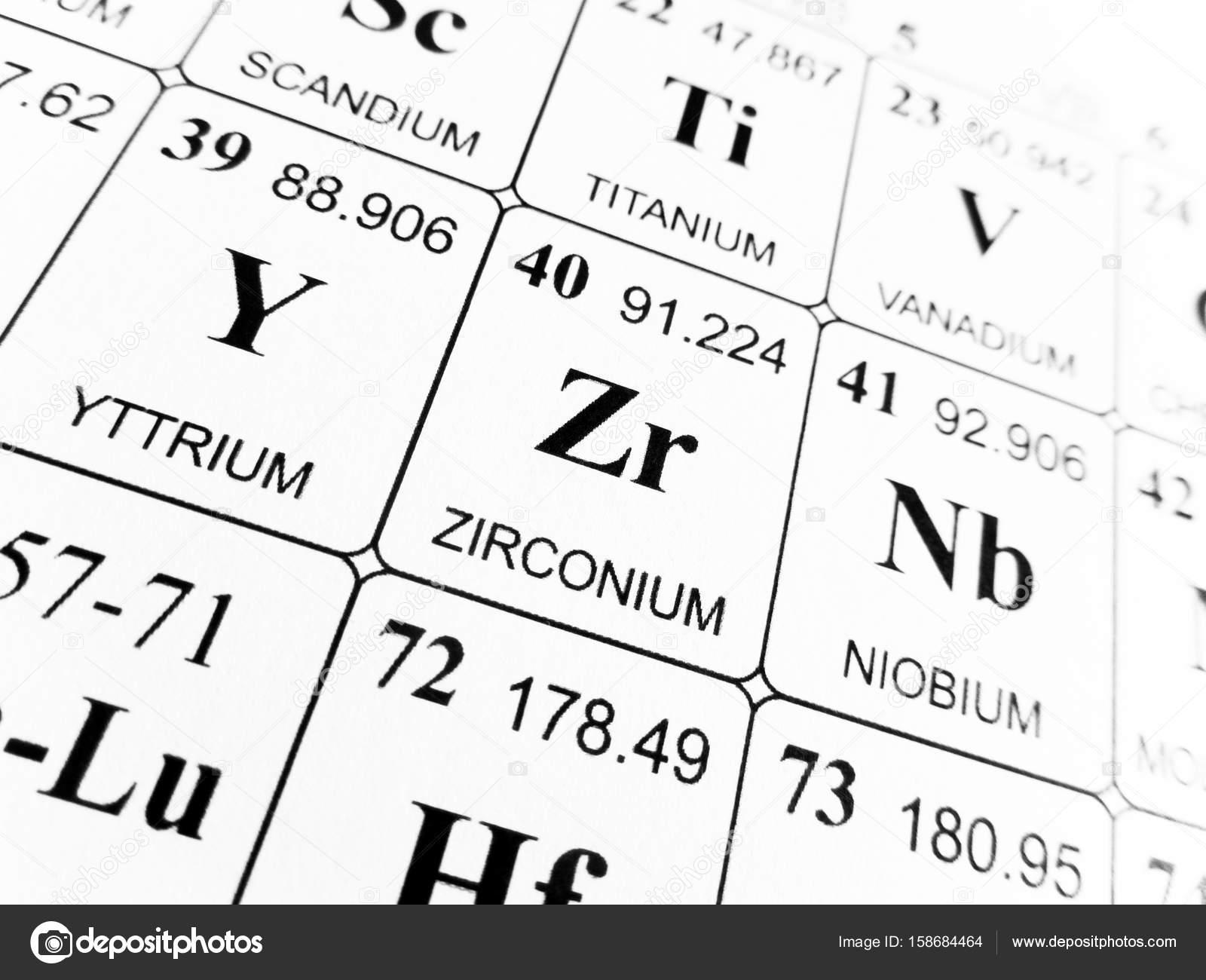 Circonio de la tabla peridica de los elementos foto de stock circonio de la tabla peridica de los elementos foto urtaz Choice Image