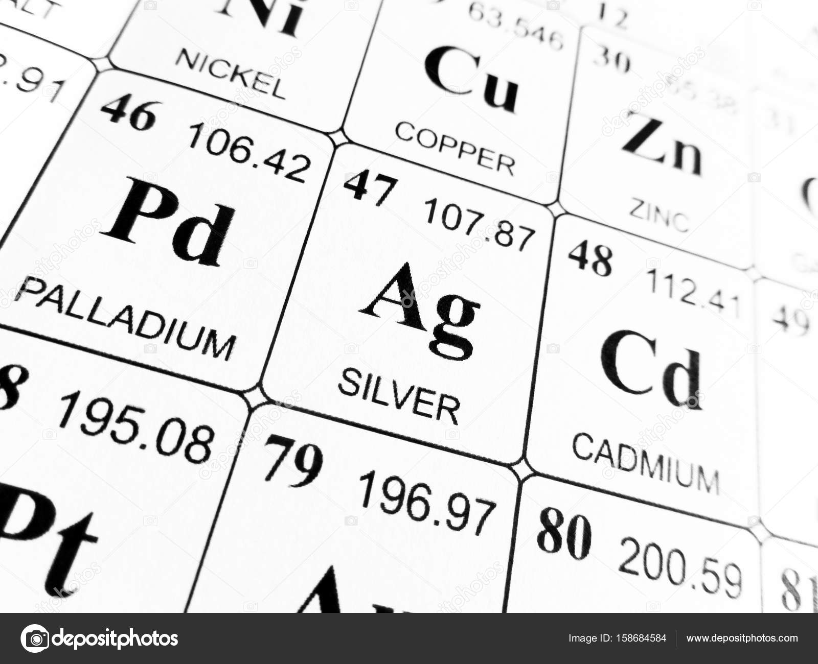 Silver on the periodic table of the elements stock photo silver on the periodic table of the elements stock photo urtaz Image collections