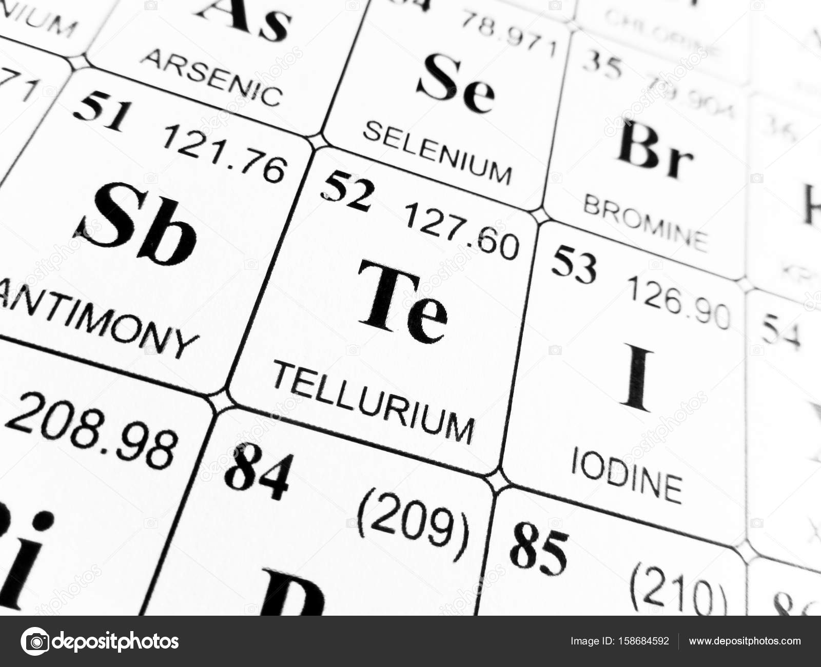 Tellurium on the periodic table of the elements stock photo tellurium on the periodic table of the elements stock photo urtaz Gallery