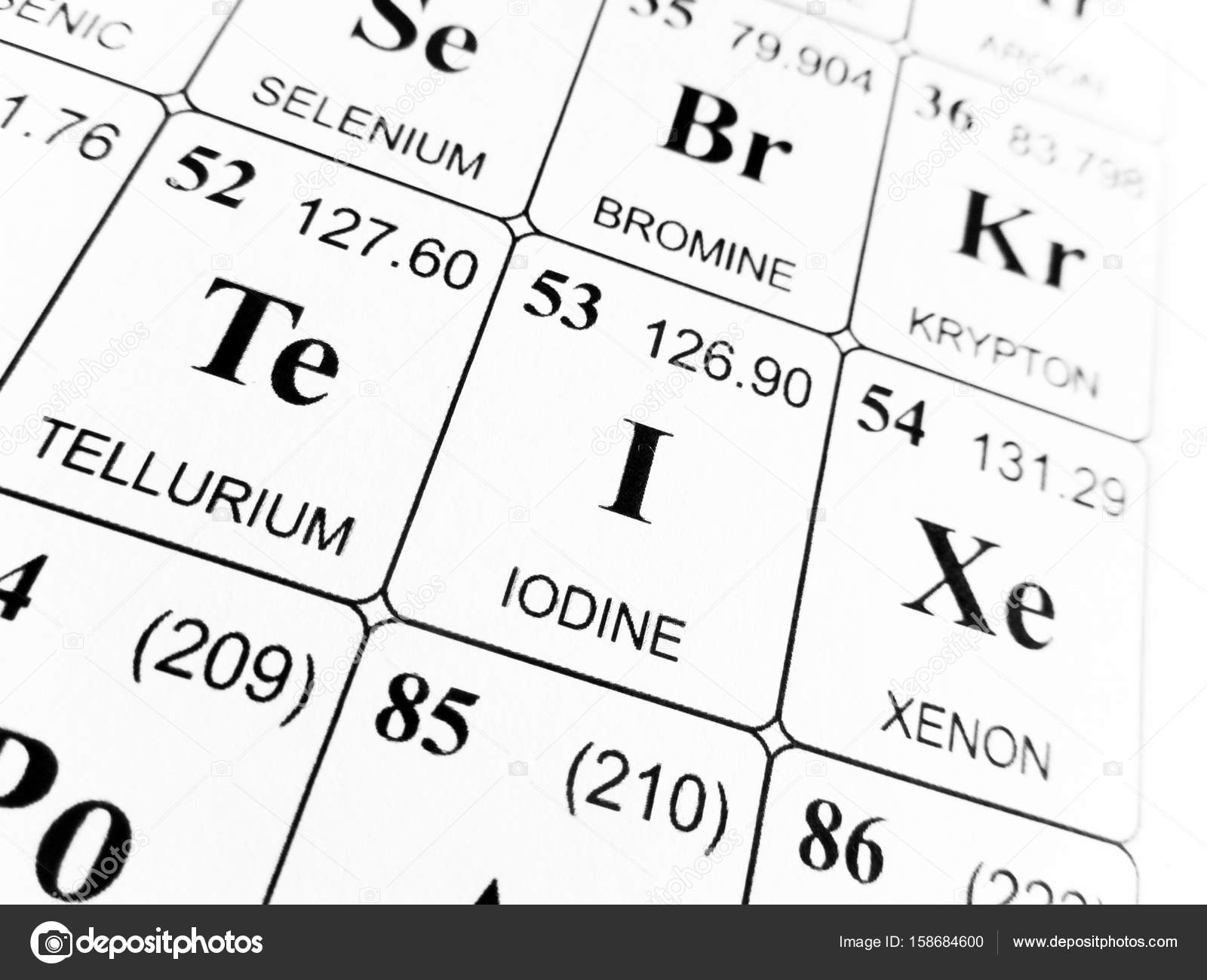 Iodine on the periodic table of the elements stock photo iodine on the periodic table of the elements stock photo urtaz Choice Image