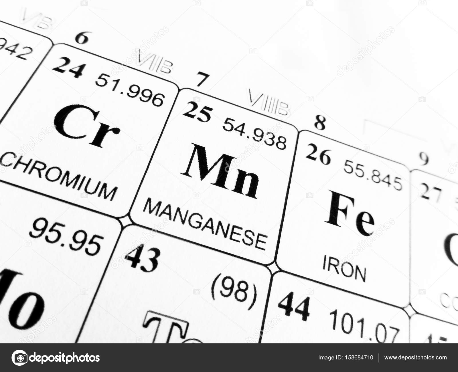 Manganese on the periodic table of the elements stock photo manganese on the periodic table of the elements stock photo 158684710 gamestrikefo Images