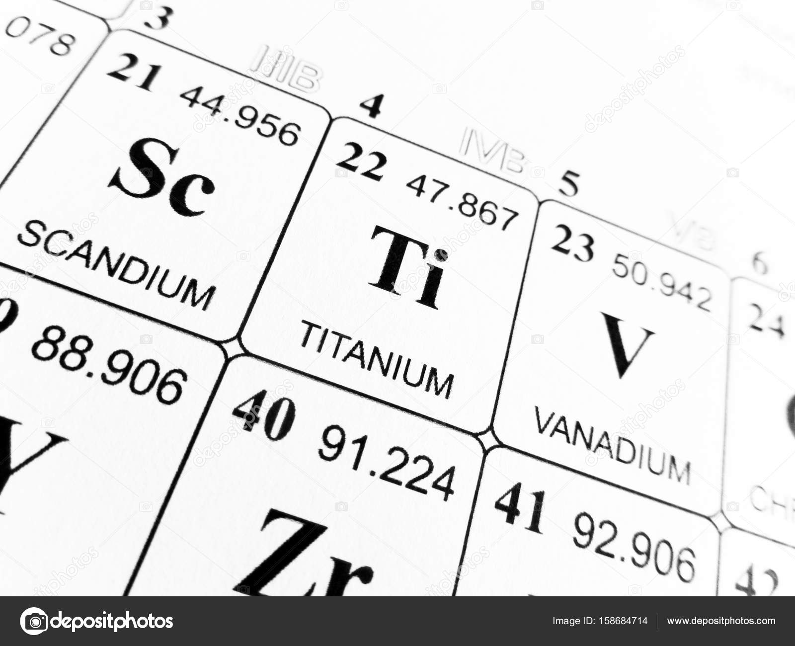 Titanium on the periodic table of the elements stock photo titanium on the periodic table of the elements stock photo urtaz Gallery