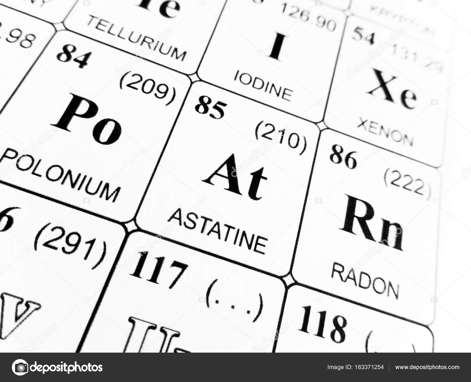 Astatine on the periodic table of the elements stock photo astatine on the periodic table of the elements photo by tonellophotography urtaz Image collections