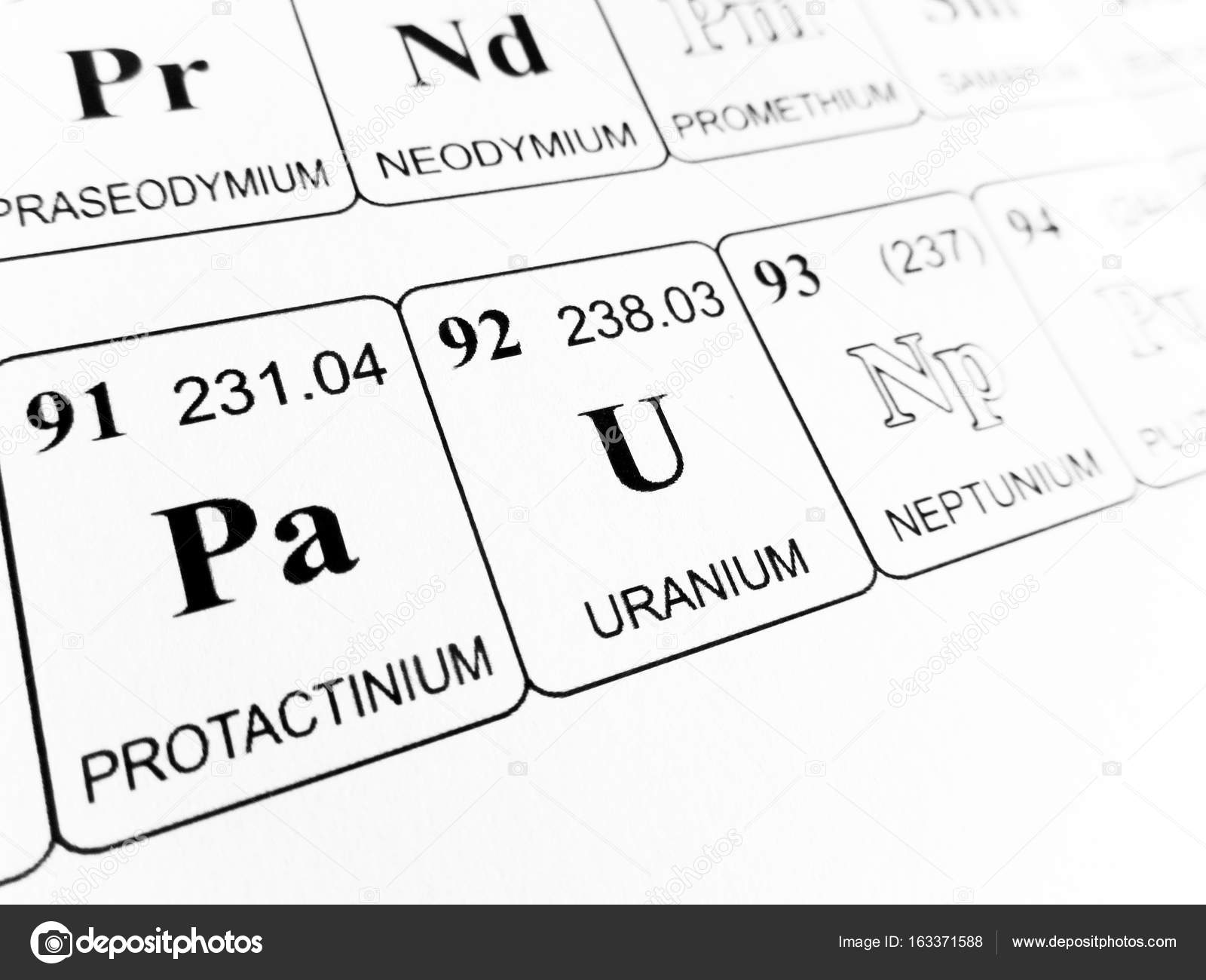 Uranium on the periodic table of the elements stock photo uranium on the periodic table of the elements stock photo urtaz Image collections