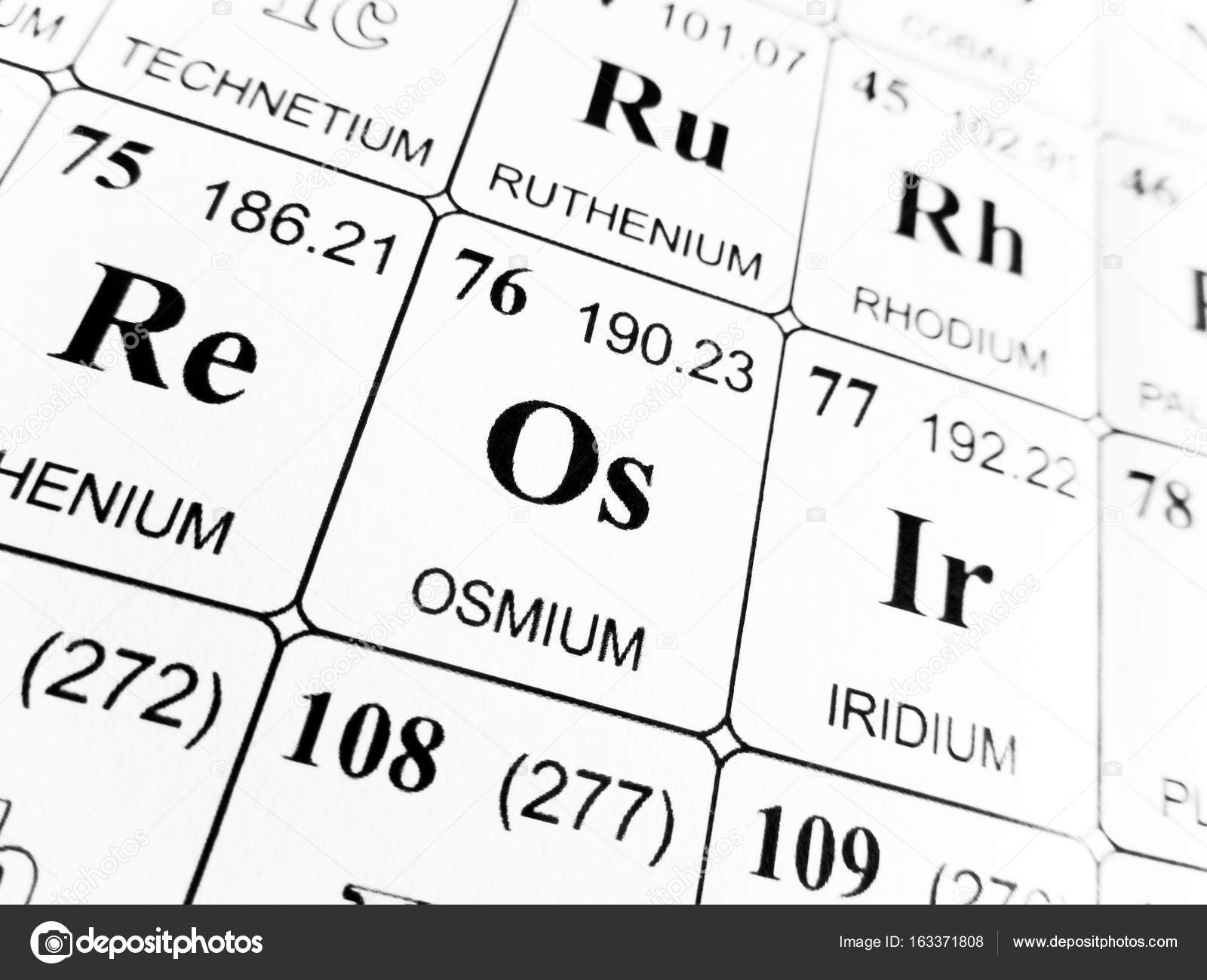 Osmium on the periodic table of the elements stock photo osmium on the periodic table of the elements stock photo urtaz Images