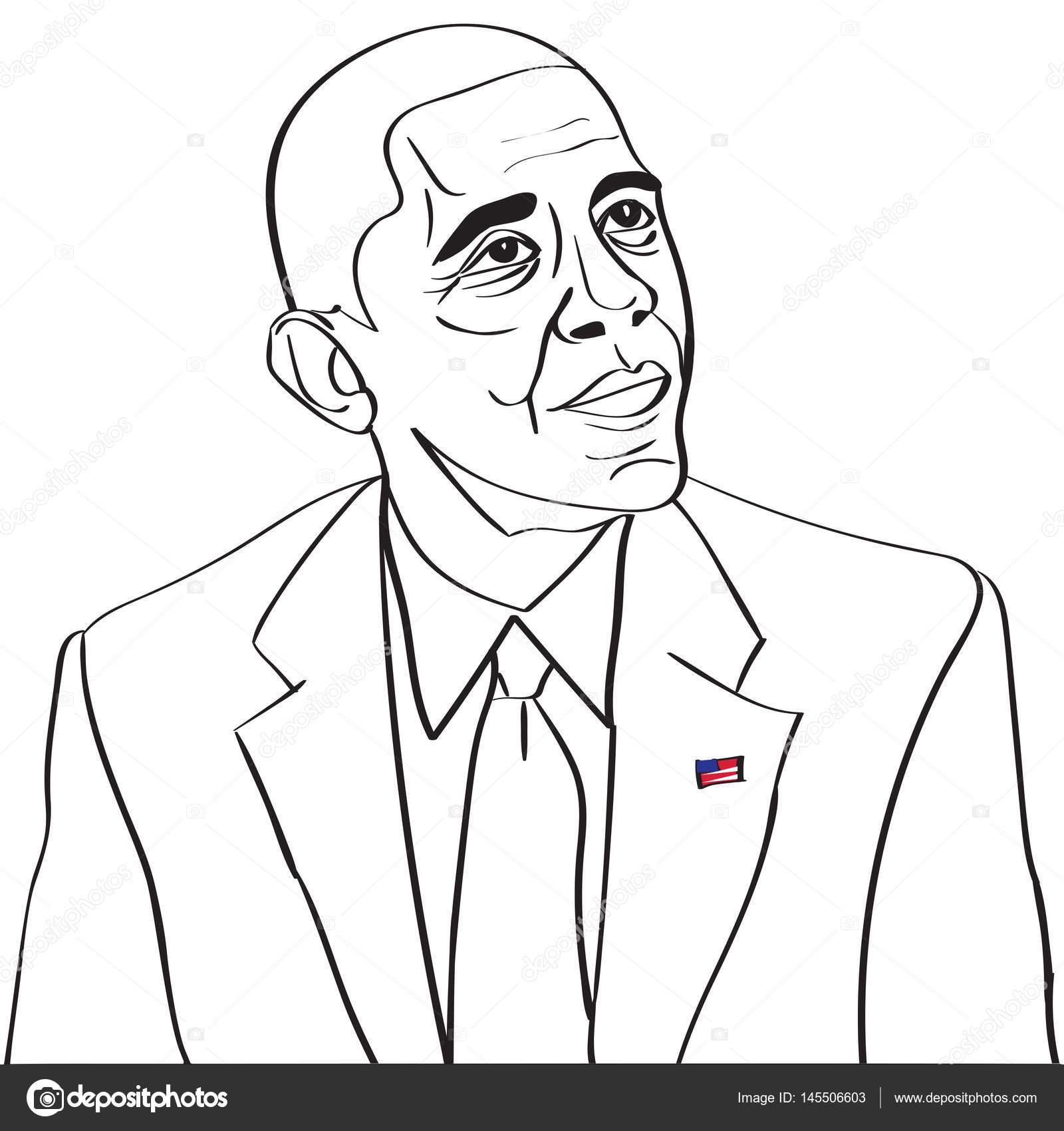 04 de marzo de 2017: 44 nos Presidente Barack Obama dibujo vector ...