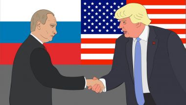 July, 2017: The meeting between Presidents of the Russian federation and the US Vladimir Putin and Donald Trump.