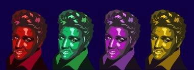 Feb, 2018: Elvis Presley colorful portraits - vector set