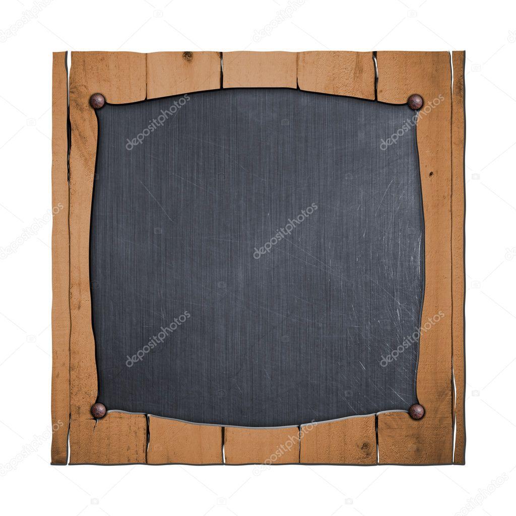 set 8. rústico marco de madera en chapa — Foto de stock © koo #125561294