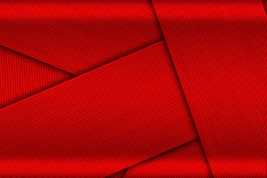 overlap black and red carbon fiber.