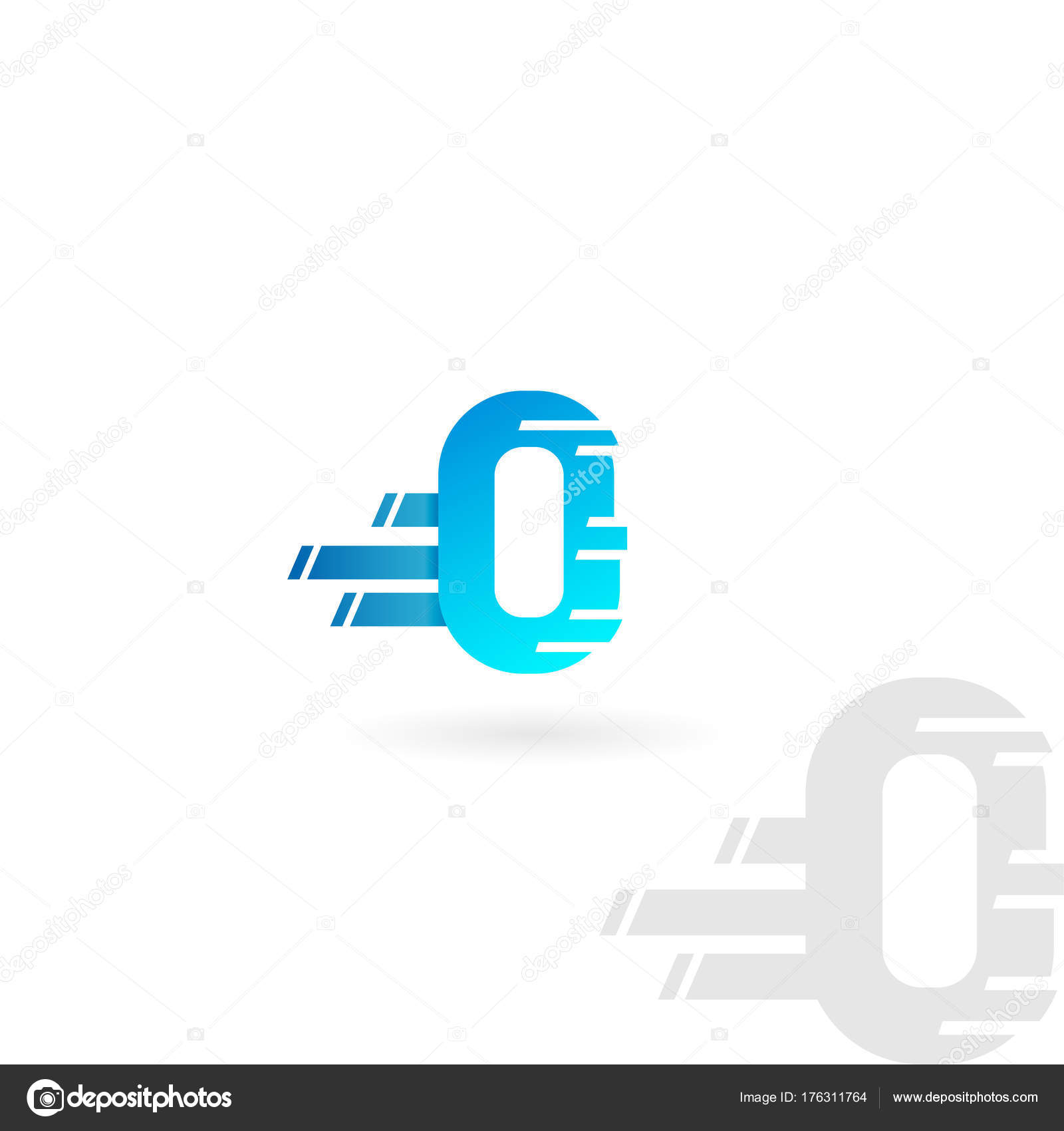 Letter o logo blue distorted vector icon speed concept font letter o logo blue distorted vector icon speed concept font stock vector buycottarizona