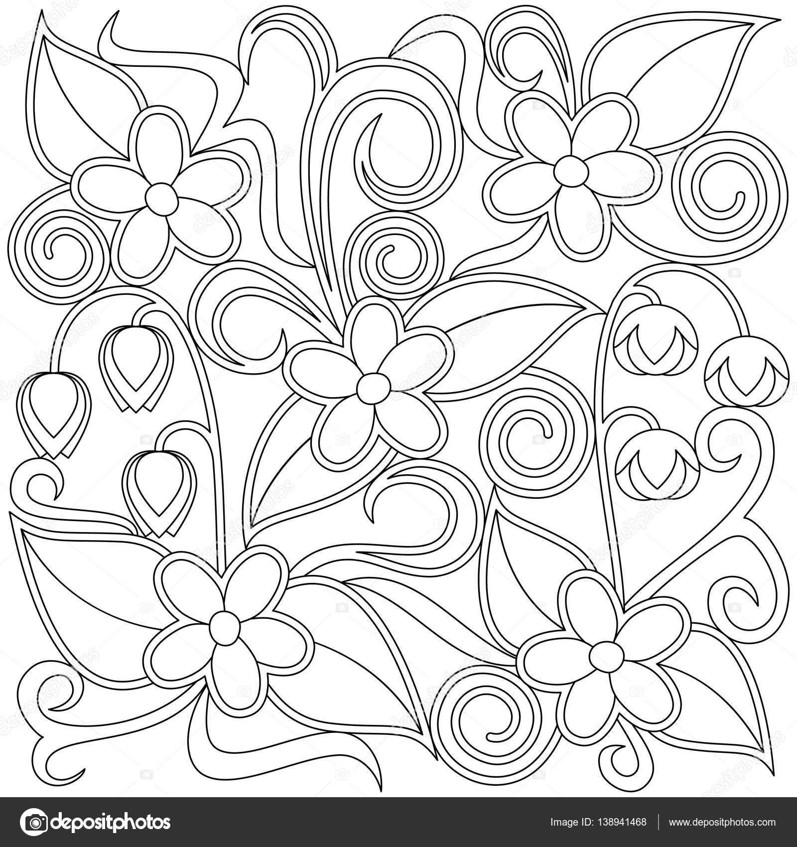 çiçek Boyama Sayfası Stok Vektör Vectoramac 138941468