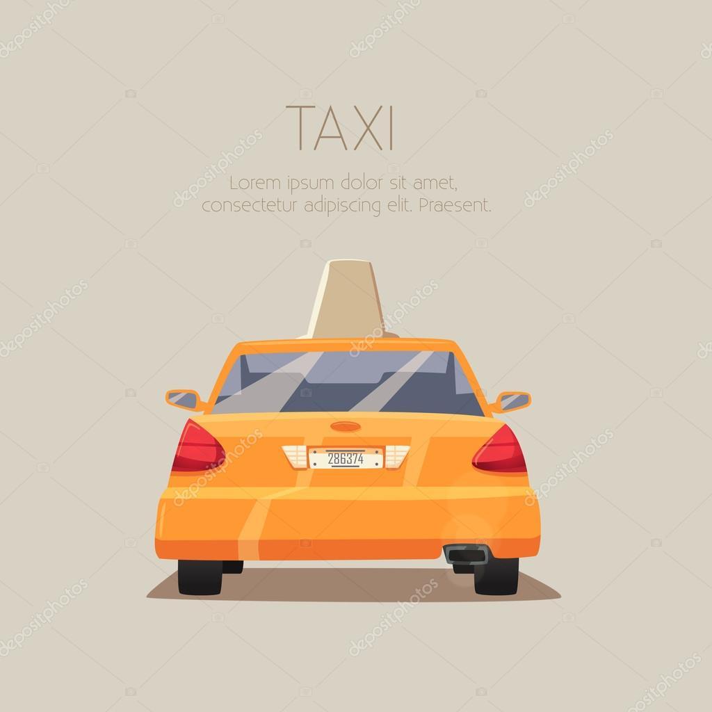 low priced 44b17 68de3 Taxi car. Vector cartoon illustration — Stock Vector ...