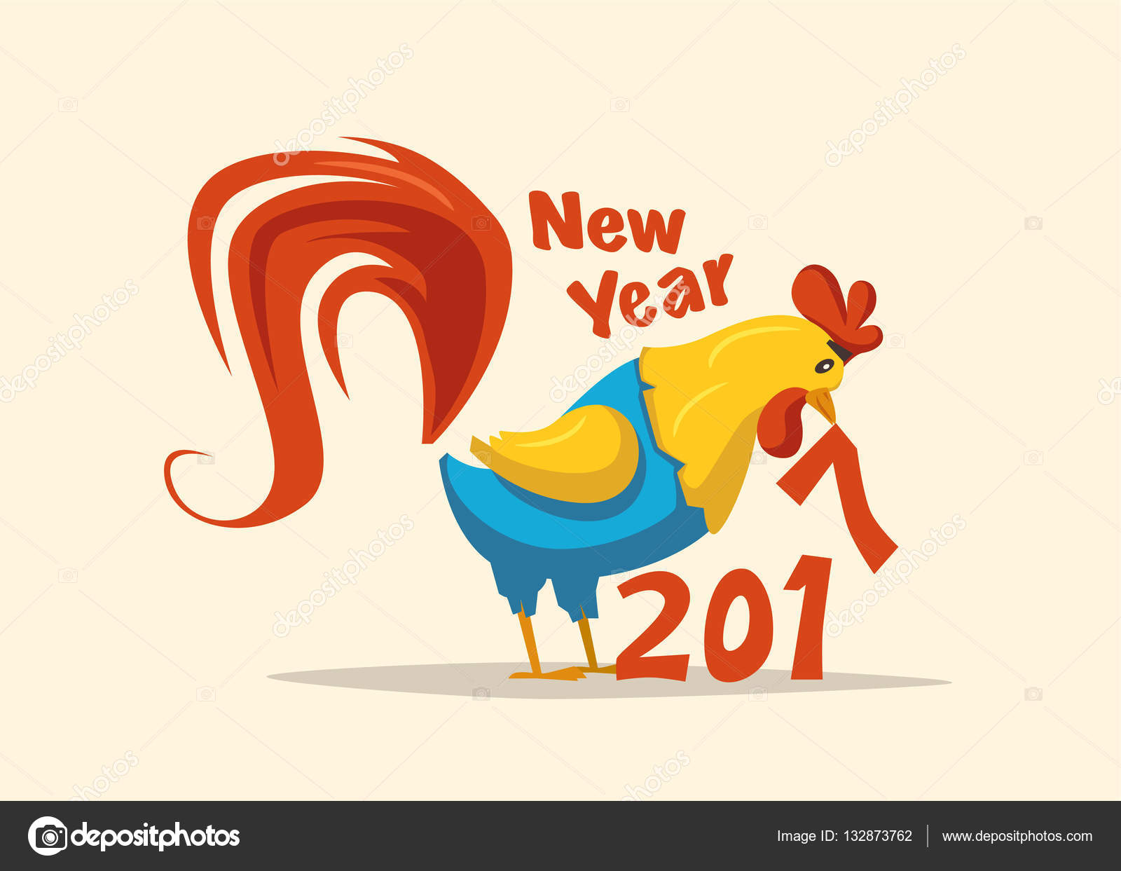 New year symbol fire rooster cartoon vector illustration stock chinese new year 2017 symbol fire rooster cartoon vector illustration stylized cock greeting card and calendar vector by dmitrymoi buycottarizona Gallery