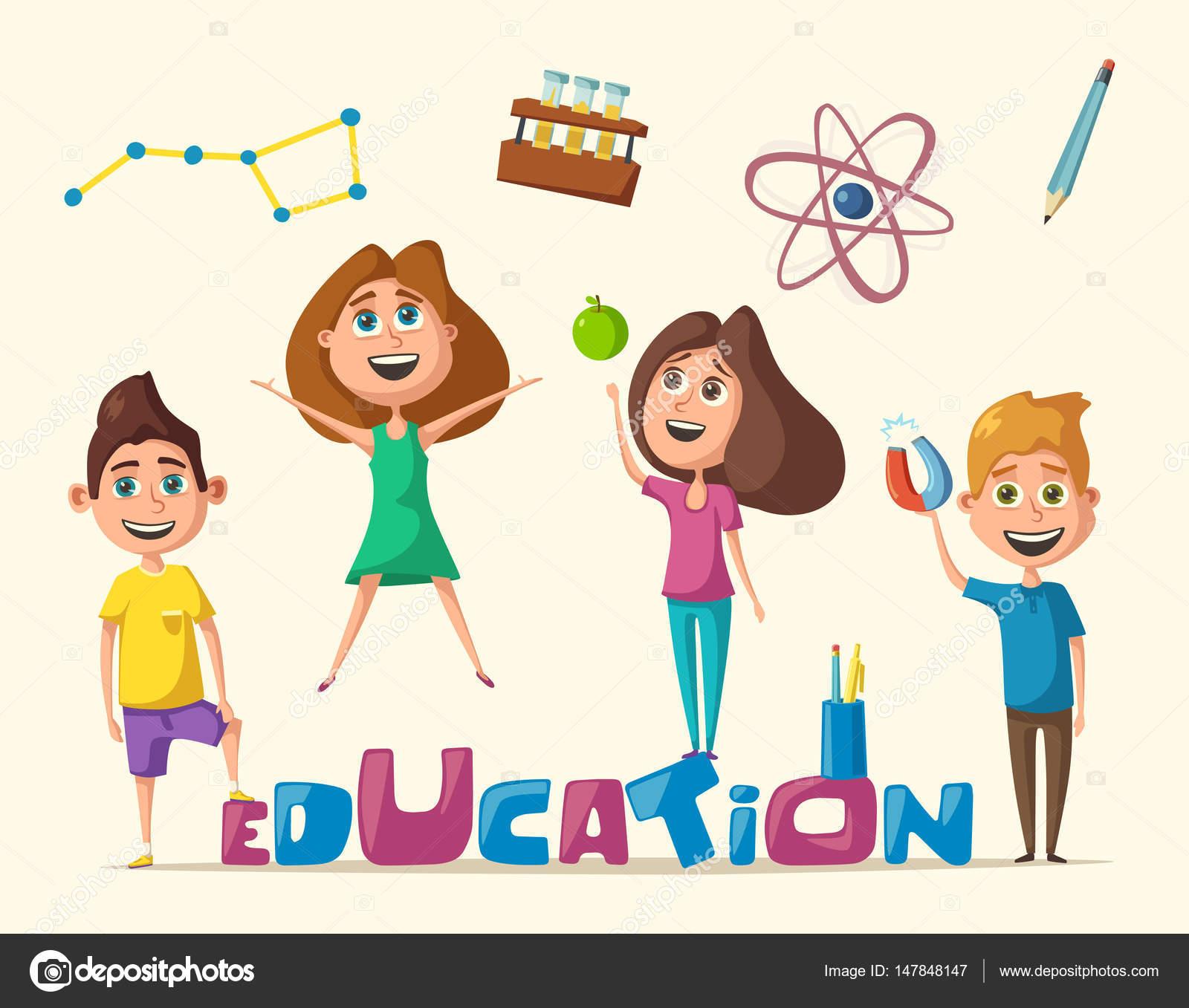 Dibujos Educacion Fisica Animados Los Niños Y Educación Banner