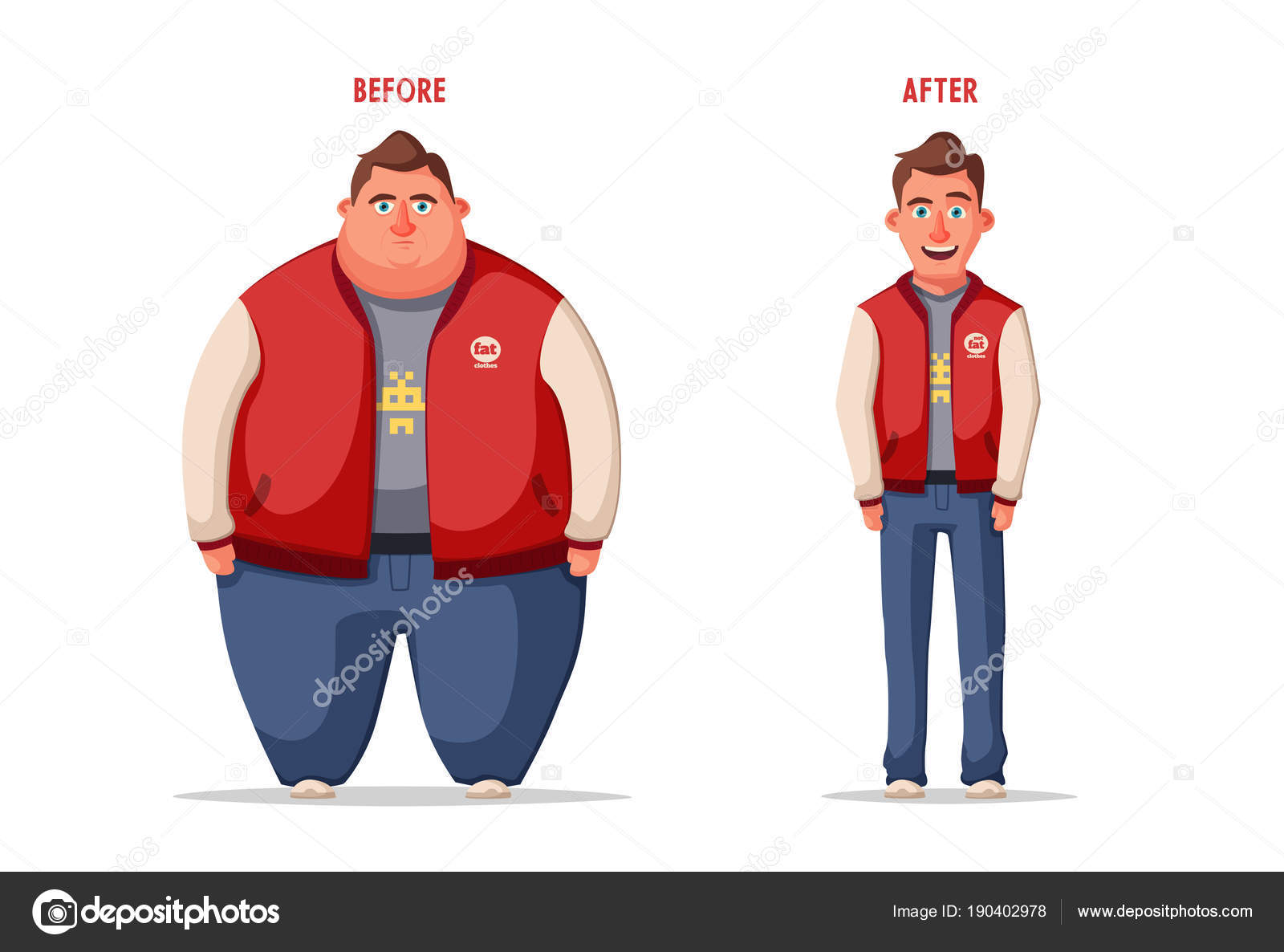 슬픈 뚱뚱한 남자입니다 비만 문자입니다 fatboy입니다 만화 벡터 일러스트 레이 션 — 스톡