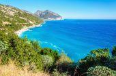 Fotografia Linea costiera incredibile Golfo di Orosei in sole, Sardegna, Italia