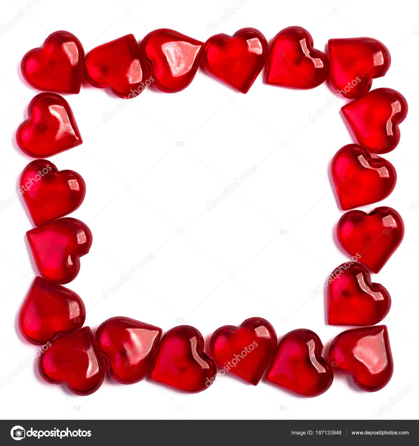 marco de cristal corazón — Fotos de Stock © lesuhova #187133948
