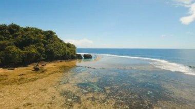 Magpupungko natural rock pools. Aerial view :Philippines,Siargao.