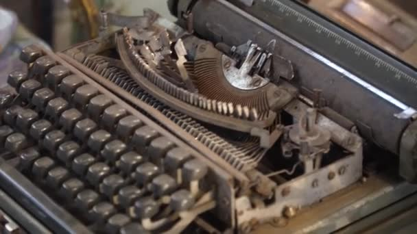 Old typewriter in the store.