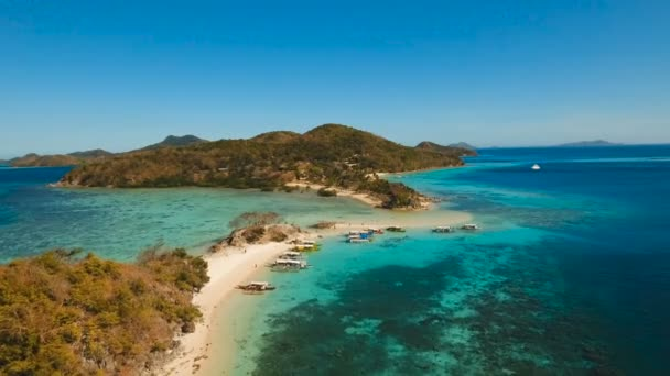 Aerial View Beautiful Beach On A Tropical Island Coron Palawan Philippines