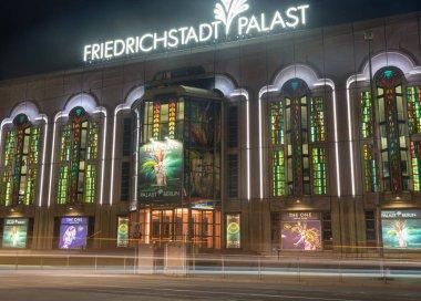 Friedrichstadt Palast retro style building at night