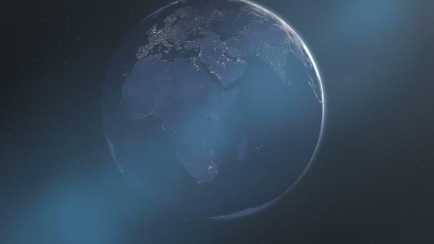 Gece ışıkları Afrika ve Europe (30fps)