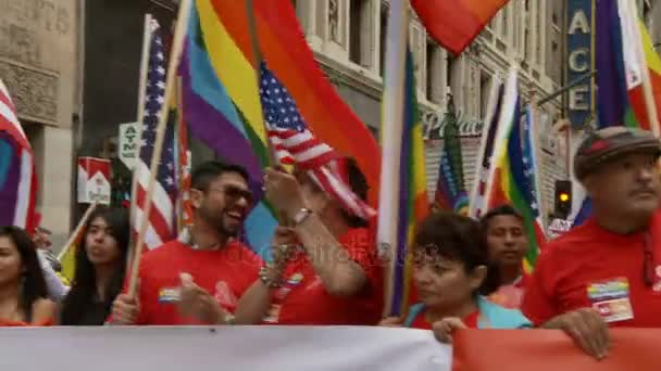 Latino and LGBTQ March Together