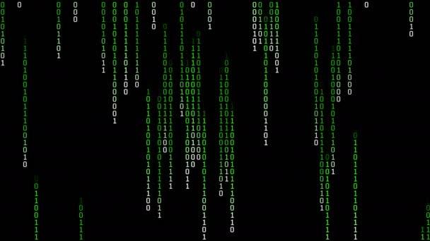 Binary Matrix Rain Loop