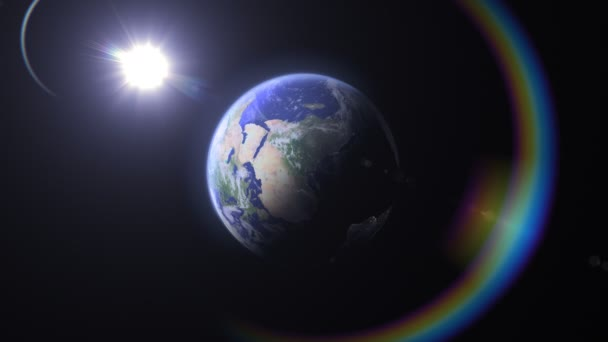 Regenbogen aus blauem Marmor, Amerika (24fps))